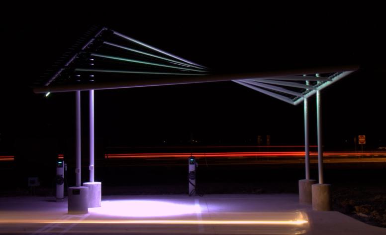 Solar Sail Carport in Pflugerville, TX