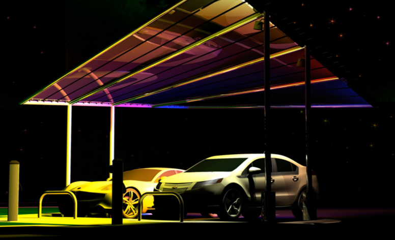 Pvilion introduces PV-Powered, EV charging Solar Sail