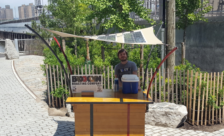 Solar Canopy for the Brooklyn Roasting Company Coffee Cart