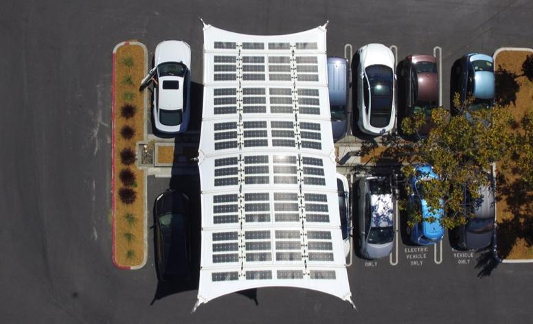 Solar Fabric Carport at Google