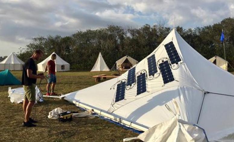 Solar Glamping Tents at Rockaway Beach