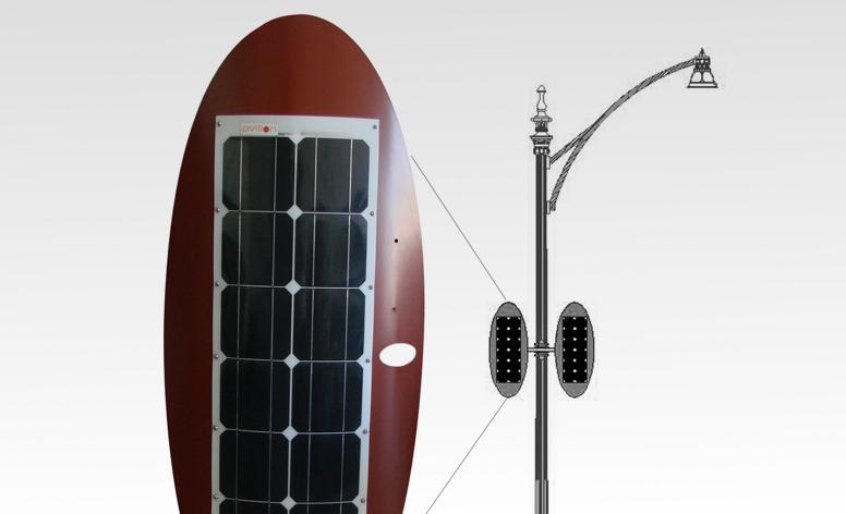 Solar Shell for LED Light Posts